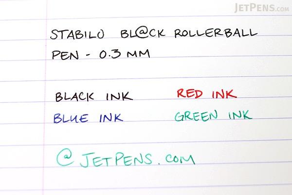 Stabilo Bl@ck Rollerball Pen - 0.3 mm - Red Ink - STABILO 1016-40