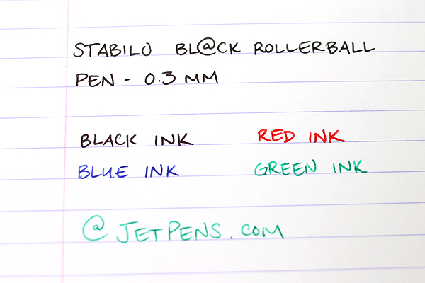 Stabilo Bl@ck Rollerball Pen - 0.3 mm - Green Ink - STABILO 1016-36