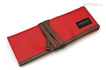 Saki P-666 Roll Pen Case - Medium - Red - SAKI P-666-R