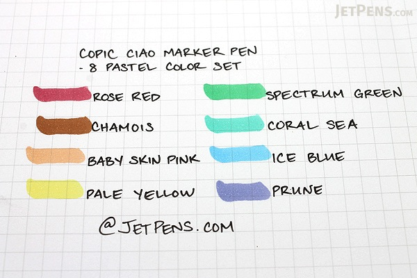 Copic Ciao Marker - 8 Pastel Color Set - COPIC IMNGAPAS