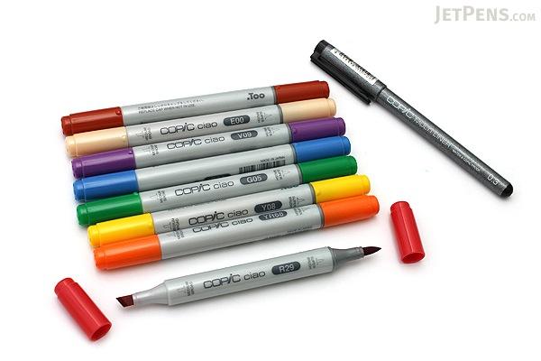 Copic Ciao Marker - 8 Primary Color Set - COPIC IMNGAPRI