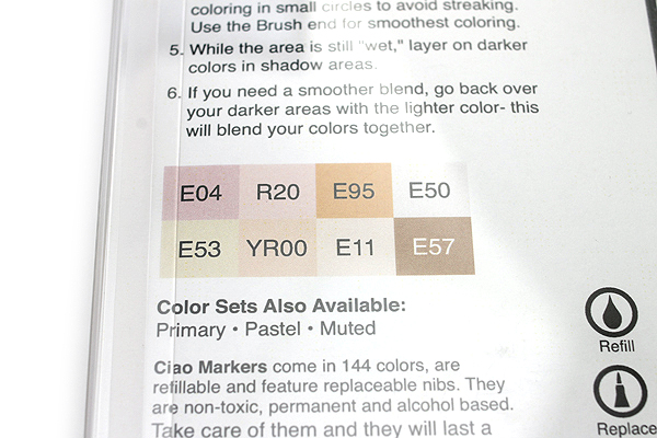 Copic Ciao Marker - 8 Skin Color Set - COPIC IMNGASKN