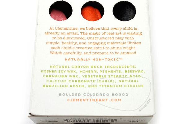 Clementine Art Natural Crayon Rocks - 9 Color Pack - CLEMENTINE ART P-207