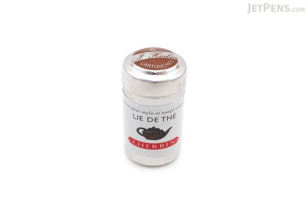 J. Herbin Lie de Thé Ink (Tea Brown) - 6 Cartridges - J. HERBIN H201/44