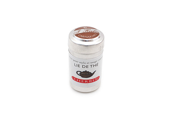 J. Herbin Fountain Pen Ink Cartridge - Lie de Thé (Tea Brown) - Pack of 6 - J. HERBIN H201/44