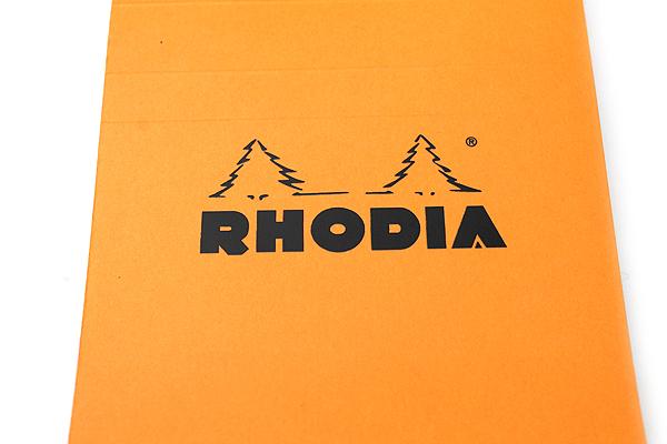 "Rhodia Pad No. 12 - Orange - 3.3"" x 4.7"" - Graph - Bundle of 10 - RHODIA 12200 BUNDLE"