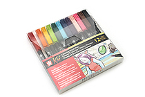 Sakura Koi Coloring Brush Pen - 12 Color Set - SAKURA XBR-12SA