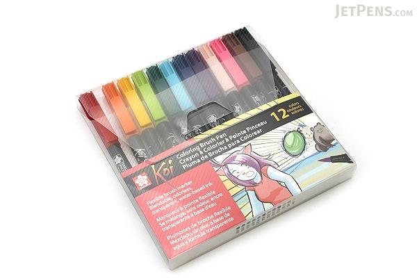 Sakura Koi Coloring Brush Pen - 12 Color Set - SAKURA XBR-12SA