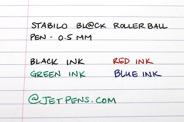 Stabilo Bl@ck Rollerball Pen - 0.5 mm - Blue Ink - STABILO 1018-41