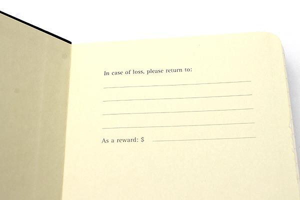 "Moleskine Classic Pocket Notebook - 3.5"" x 5.5"" - Ruled - Black - MOLESKINE 978-88-8370-100-9"