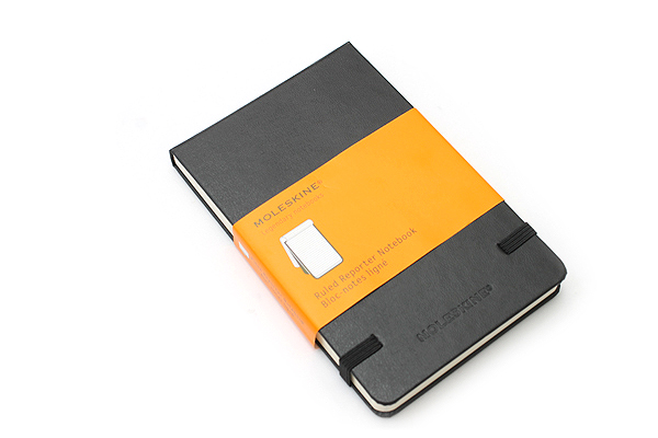 "Moleskine Reporter Pocket Notebook - Ruled - 3.5"" x 5.5"" - Black - MOLESKINE 978-88-8370-548-9"