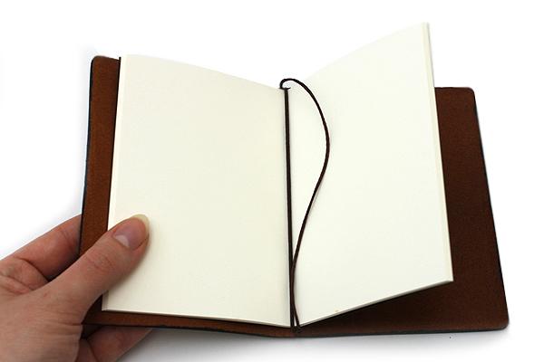 "Pelle Leather Journal - Burnt Cognac - Small + 1 Plain Linen Paper Notebook (3.4"" X 4.9"") Insert - 64 Pages - PELLE LJ S BC"