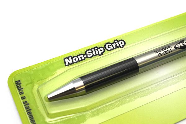 Zebra G-301 Gel Pen - 0.7 mm - Black Grip - Black Ink - ZEBRA 41311