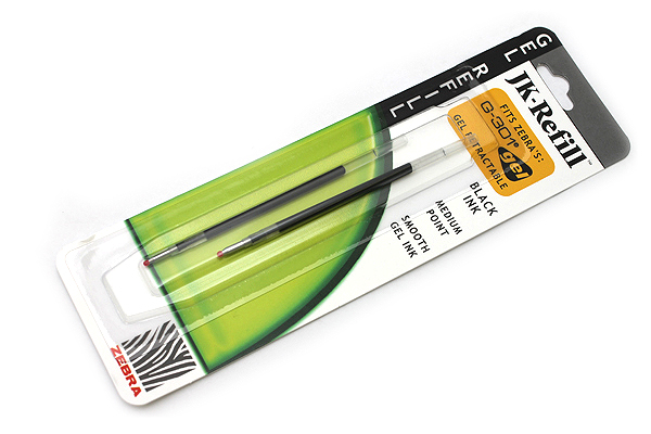 Zebra JK-Refill Gel Pen Refill - 0.7 mm - Black - Pack of 2 - ZEBRA 88112