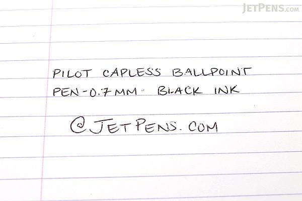 Pilot Capless Ballpoint Pen - 0.7 mm - Pearl White Body - Black Ink - PILOT BC-250R-PW