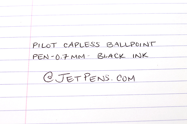 Pilot Capless Ballpoint Pen - 0.7 mm - Pearl White Body - Black Ink - PILOT BC-250R-PW