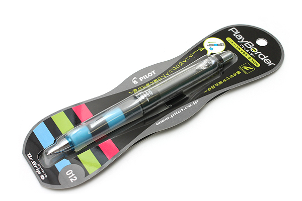 Pilot Dr. Grip Play Border Shaker Mechanical Pencil - 0.5 mm - Black and Blue Body - PILOT HDGCL-50R-PBL