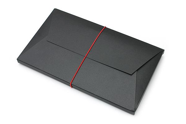"""Pelle Leather Journal - Black - Large + 1 Plain Linen Paper Notebook (4.3"""" X 8.3"""") Insert - 64 Pages - PELLE LJ L B"""