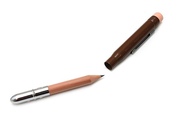 Midori Brass Bullet Pencil Holder - Brown - MIDORI 38063-006