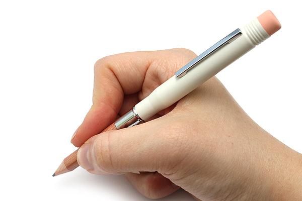 Midori Brass Bullet Pencil Holder - White - MIDORI 38062-006