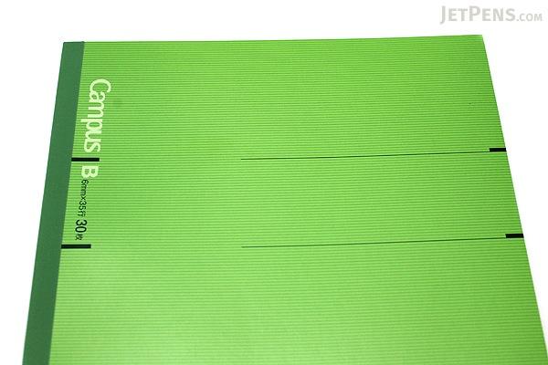 Kokuyo Campus Notebook - Slim B5 - 6 mm Rule - Green - KOKUYO NO-3PBN-G
