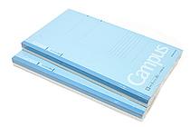 Kokuyo Campus Notebook - Slim B5 - 6 mm Rule - 30 Sheets - Blue - Bundle of 10 - KOKUYO NO-3PBN-B BUNDLE