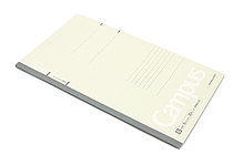 Kokuyo Campus Notebook - Slim B5 - 6 mm Rule - Light Gray - KOKUYO NO-3PBN-W