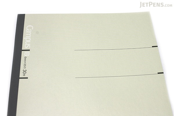 Kokuyo Campus Notebook - Slim B5 - 6 mm Rule - Light Gray - KOKUYO NO-3PBN-W