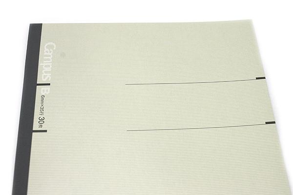 Kokuyo Campus Notebook - Slim B5 - 6 mm Rule - 30 Sheets - Light Gray - Bundle of 10 - KOKUYO NO-3PBN-W BUNDLE