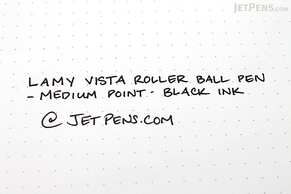 Lamy Vista Rollerball Pen - Medium Point - Clear Body - Black Ink - LAMY L312