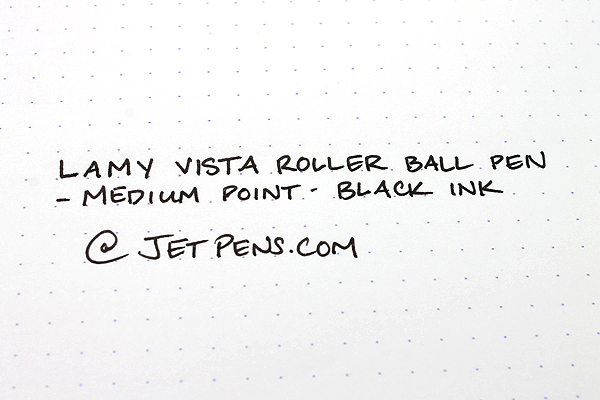 Lamy Vista Rollerball Pen - Medium Point - Clear Body - Black Ink - LAMY L312
