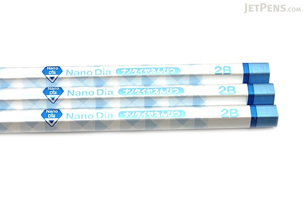 Uni NanoDia Pencil - 2B - Blue Body - Pack of 3 - UNI K65952B