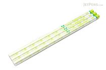 Uni NanoDia Pencil - 2B - Green Body - Pack of 3 - UNI K65912B