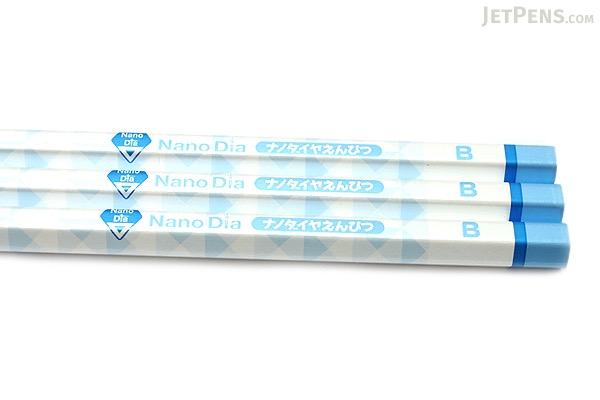 Uni NanoDia Pencil - B - Blue Body - Pack of 3 - UNI K6594B