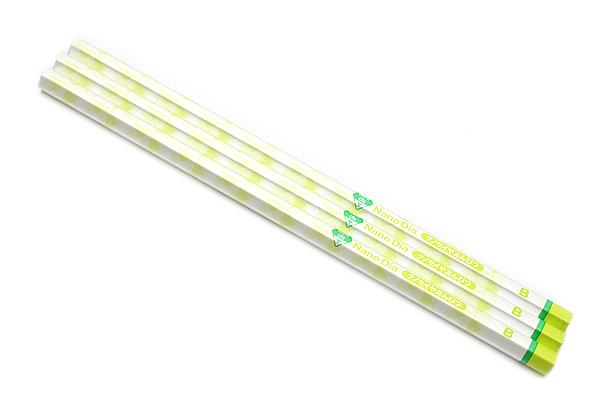 Uni NanoDia Pencil - B - Green Body - Pack of 3 - UNI K6590B