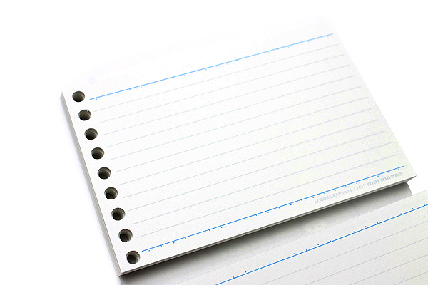 Maruman Smooth to Write Loose Leaf Mini Paper - B7 Modified - 6 mm Rule - 9 Holes - 100 Sheets - MARUMAN L1431