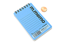 "Maruman M.Memo Mini Notepad - A7 (4.1"" X 2.9"") - 6 mm Rule - 50 Sheet - Blue - MARUMAN N595A-02"