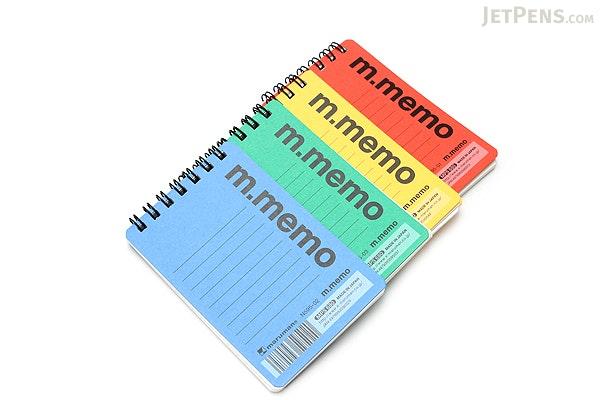 "Maruman M.Memo Mini Notepad - A7 (4.1"" X 2.9"") - 6 mm Rule - 50 Sheet - Yellow - MARUMAN N595-04"