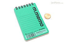 "Maruman M.Memo Mini Notepad - A7 (4.1"" X 2.9"") - 6 mm Rule - 50 Sheet - Green - MARUMAN N595A-03"