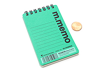 "Maruman M.Memo Mini Notepad - A7 (4.1"" X 2.9"") - 6 mm Rule - 50 Sheet - Green - MARUMAN N595-03"