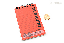 "Maruman M.Memo Mini Notepad - A7 (4.1"" X 2.9"") - 6 mm Rule - 50 Sheet - Red -  MARUMAN N595A-01"