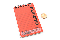 "Maruman M.Memo Mini Notepad - A7 (4.1"" X 2.9"") - 6 mm Rule - 50 Sheet - Red - MARUMAN N595-01"