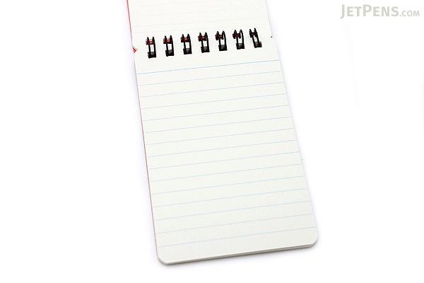 """Maruman M.Memo Mini Notepad - A7 (4.1"""" X 2.9"""") - 6 mm Rule - 50 Sheet - Red -  MARUMAN N595A-01"""