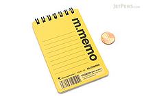"""Maruman M.Memo Mini Notepad - A7 (4.1"""" X 2.9"""") - 6 mm Rule - 50 Sheet - Yellow - MARUMAN N595A-04"""
