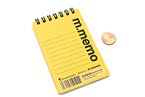 "Maruman M.Memo Mini Notepad - A7 (4.1"" X 2.9"") - 6 mm Rule - 50 Sheet - Yellow - MARUMAN N595-04"