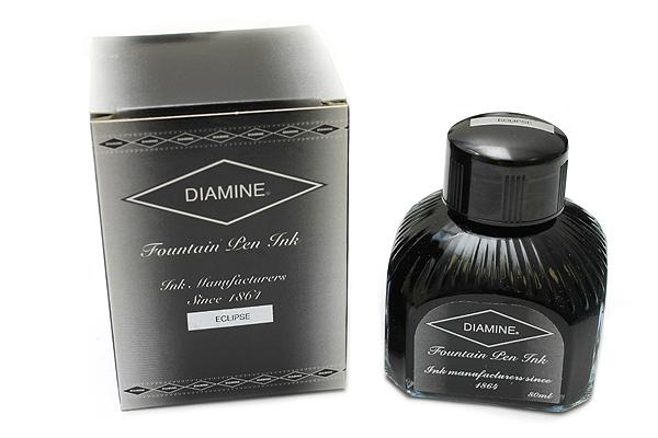 Diamine Fountain Pen Ink - 80 ml - Eclipse (Black) - DIAMINE INK 7081