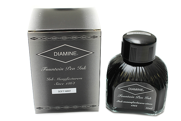 Diamine Fountain Pen Ink - 80 ml - Soft Mint - DIAMINE INK 7089