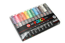 Uni Posca Paint Marker PC-1M - Extra Fine Point - 12 Color Set - UNI PC1M 12C