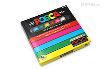 Uni Posca Paint Marker PC-5M - Medium Point - 8 Color Set - UNI PC5M8C