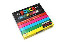 Uni Posca Paint Marker PC-5M - Medium Point - 8 Color Set - UNI PC5M 8C